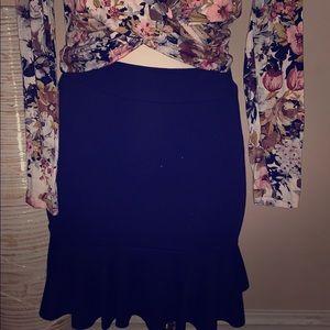 Agaci black mermaid mini skirt